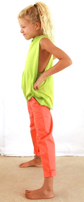 Sleeveless top, Green