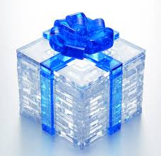 Kristallpussel paket blå band