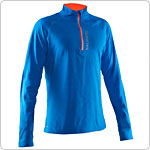 Salming Halfzip Long Sleeve Tee Blå