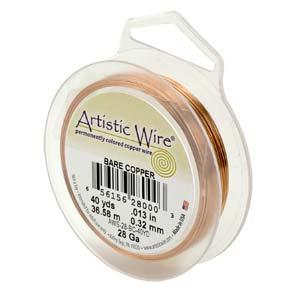 26 gauge non tarnish koppar artistic wire.