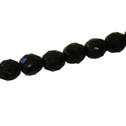 Fasetter i svart, 10 mm. Ca 12 cm sträng.