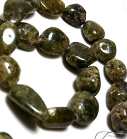 Tsavorit - Grön Granat Sträng - TumladSten