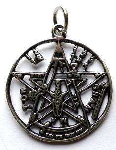Pentagram Halsband med magiska text