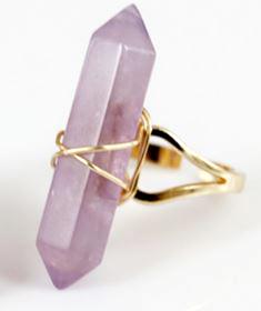 Ametistspets Ring - Guldplätt
