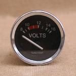 Voltmätare 8-16 volt 52mm svart