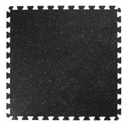 Gymgolv 10mm, svart med vita stänk