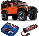 Traxxas TRX-4 Scale & Trail Crawler Land Rover Defender Orange RTR - Med Batteri & Laddare