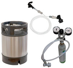 Draft Beer System with 9 l Ball-Lock Keg