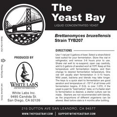 Brettanomyces Bruxellensis TYB207 (The Yeast Bay), REA 4-12 mån