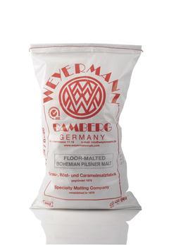 golvmältad böhmisk pilsnermalt (Weyermann®), hel, 25 kg