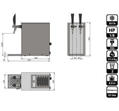 Lindr Pygmy 25/K Exclusive (2 tappar + kompressor)