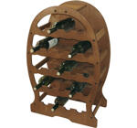 Wine Rack, Wood, 23 Bottles