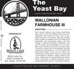Wallonian Farmhouse III (The Yeast Bay), SALE 4-12 mon