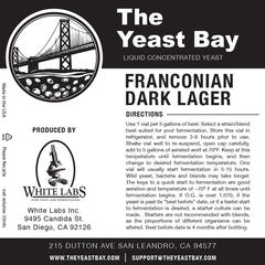 Franconian Dark Lager (The Yeast Bay) REA 4-12 mån