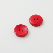 Wooden buttons - red candy
