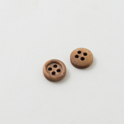 Wooden buttons - Tiny and brown