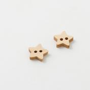 Wooden buttons - star