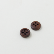 Wooden buttons - Tiny and dark brown