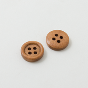 Wooden buttons - small and brown