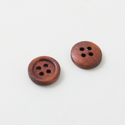 Wooden buttons - small and dark