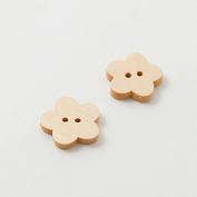 Wooden buttons - Medium flower