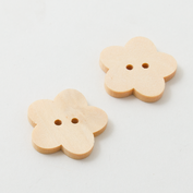 Wooden buttons - Large - Flower