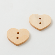 Wooden buttons - Large - Heart
