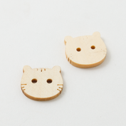 Wooden buttons - Kitty