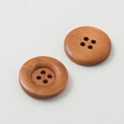 Wooden buttons - Large - Brown