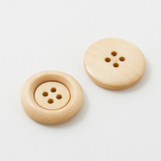 Wooden buttons - Large - Light