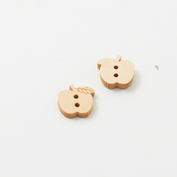 Wooden buttons - apple