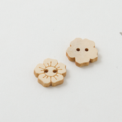 Wooden buttons - Small flower