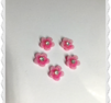 Rosa plast blomma med bling 1-pack