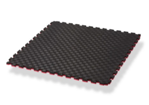 Pusselmatta Jigsaw Svart/Röd, 1x1 meter / 2 cm