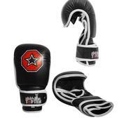 Topten MMA Striking Training Handske, Svart/Vit