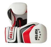 Topten Boxingglove Stripe, White/Red/Black 8-12 oz