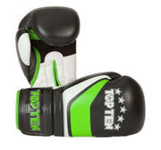 Topten Boxingglove Stripe, Black/Green/White 8-12 oz