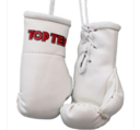 Mini boxhandskar Topten, Vit