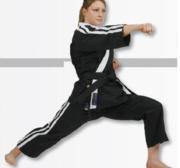 Hayashi Osaka Freestyle Karate GI, Black 170 cm