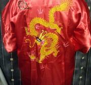 Kimono in silk with dragon Red X-Large