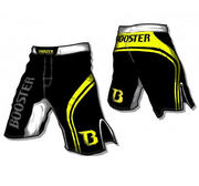 Booster MMA trunks PRO Trial, Black/Yellow