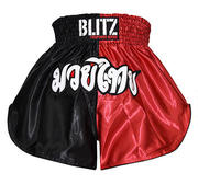 Blitz Kids Thaishorts Red/Black