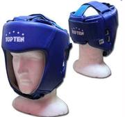 AIBA Topten Huvudskydd Läder, Blå