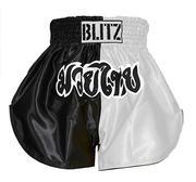Blitz Kids Thaishorts Black/White