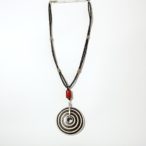 Circles ostrich egg necklace