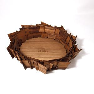 Laserleikattu kulho pähkinäpuu, Nest