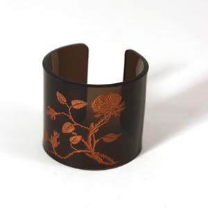 Cuff, Thorn Flower,  bronze, 60 mm
