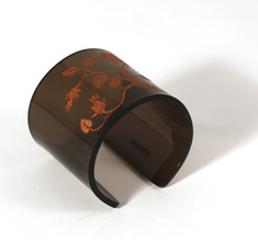 Cuff, Thorn Flower,  bronze, 60 mm