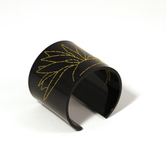 Cuff Stitched, black Strelitzia, 60 mm