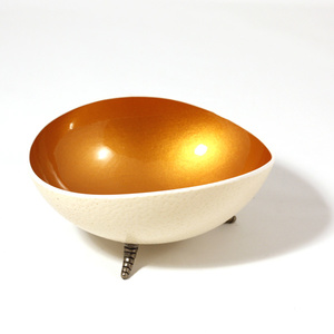 Oval gold coloured ostrich bowl Havana